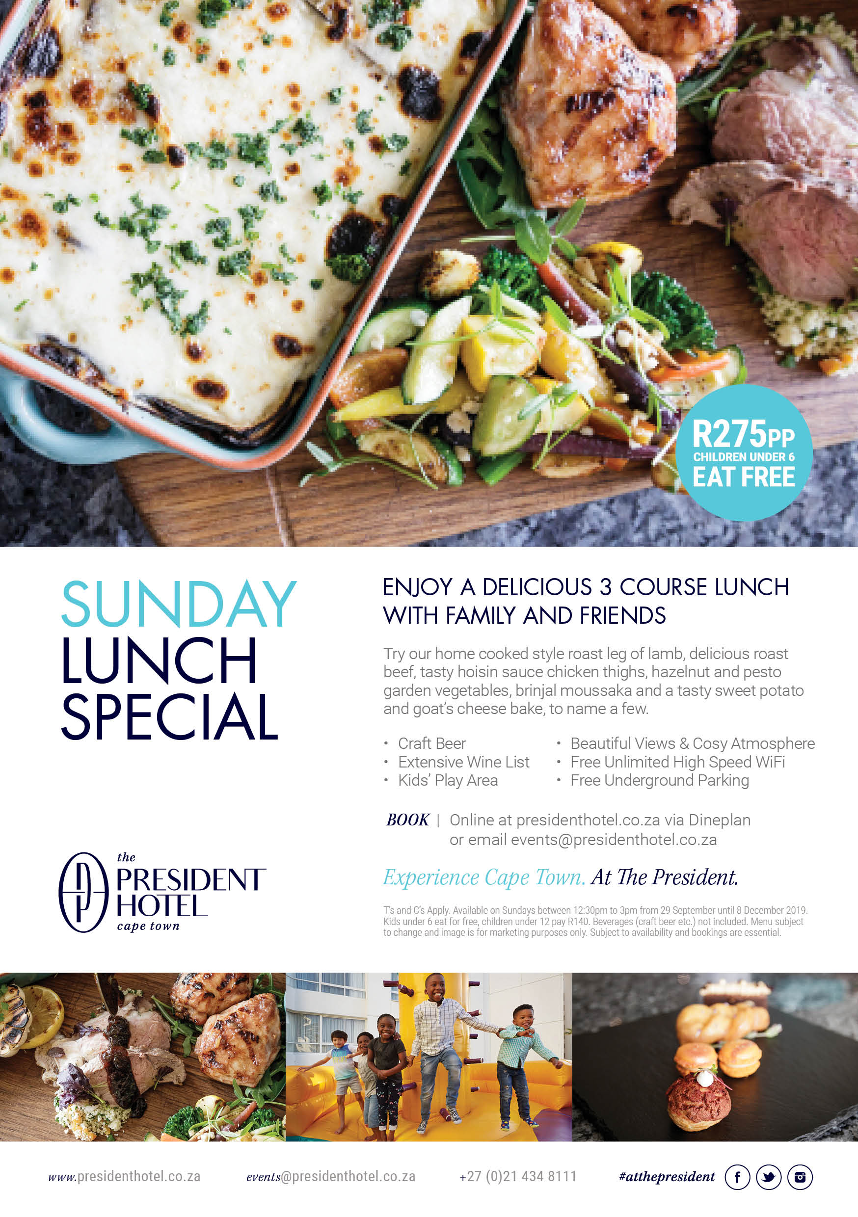 SUNDAY LUNCH AT THE PRESIDENT HOTEL
