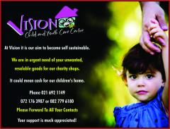 DONATIONS TO VISION CHILDRENS HOME