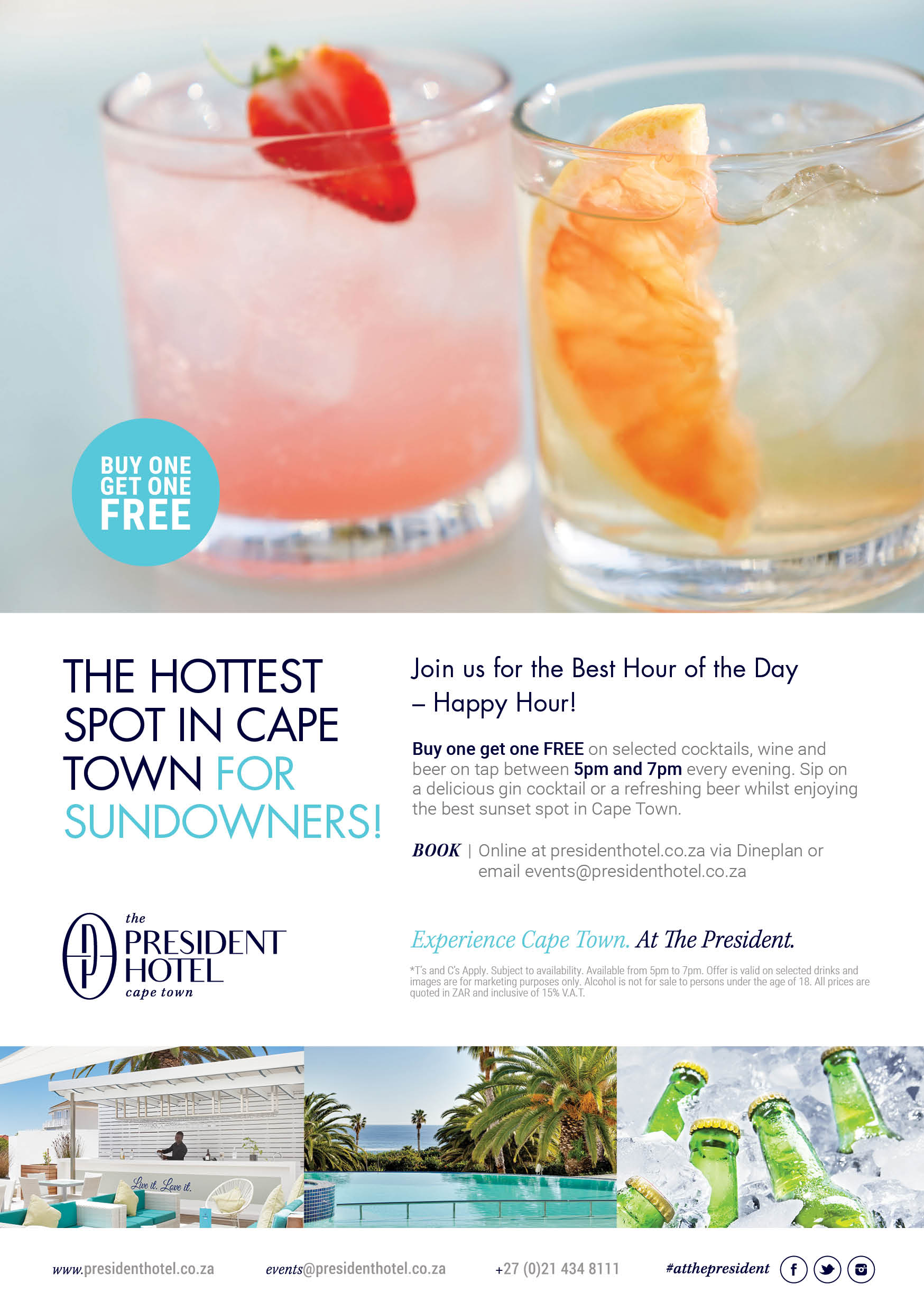 THE HOTTEST SPOT IN CAPE TOWN FOR SUNDOWNERS!