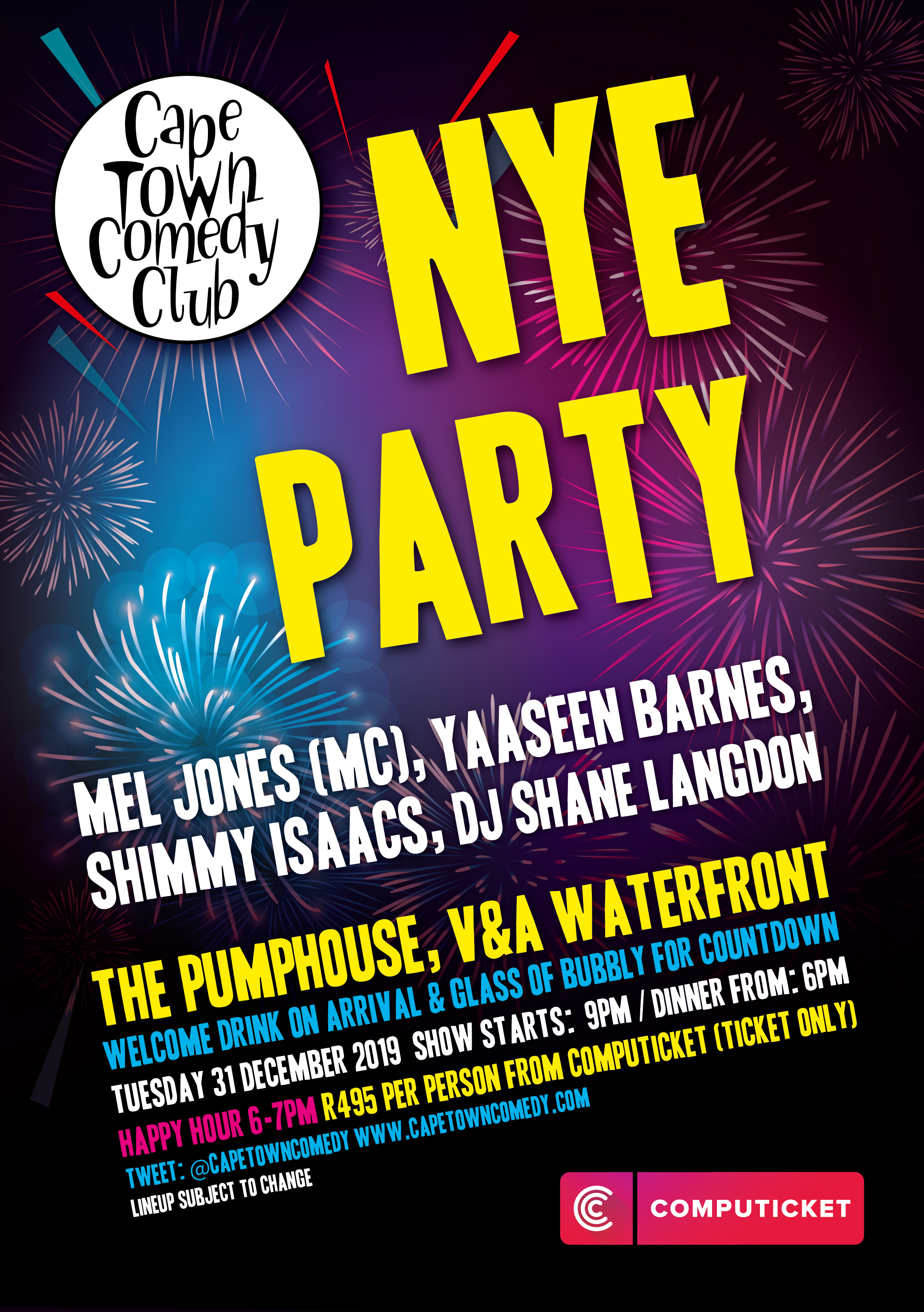 Cape Town Comedy Club - New Year's Eve Party