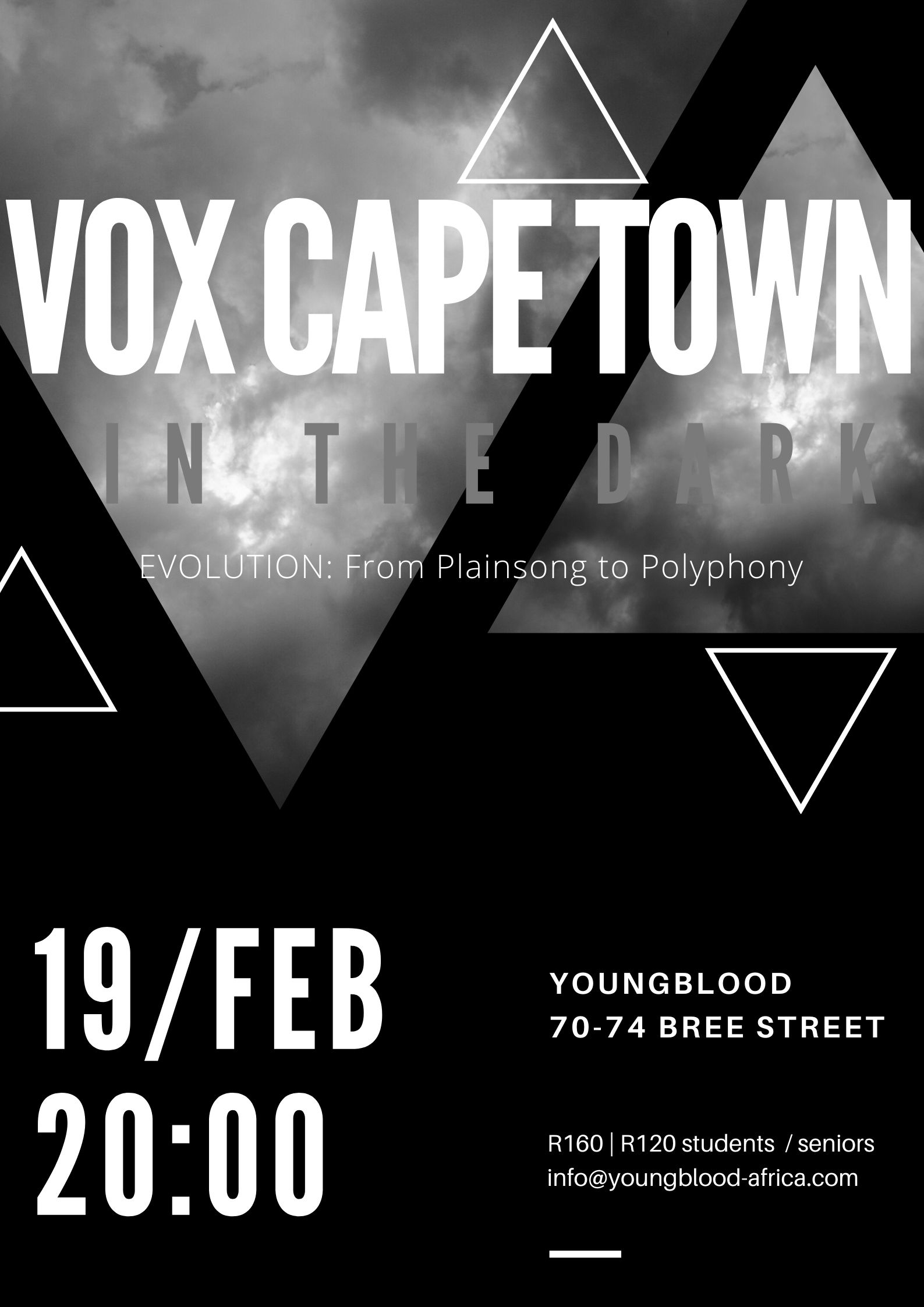 In The Dark : Vox Cape Town I Evolution - From Plainsong to Polyphony
