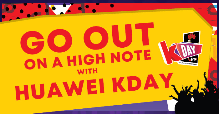 Go out on a high note at Huawei KDay!