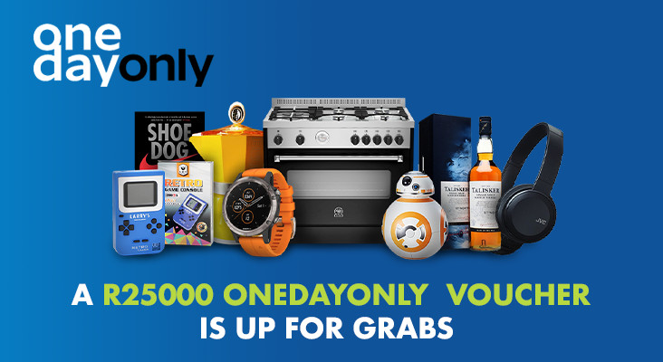 WIN A R25 000 ONEDAYONLY VOUCHER IN THE ONEDAYONLY RACE TO R25 000!