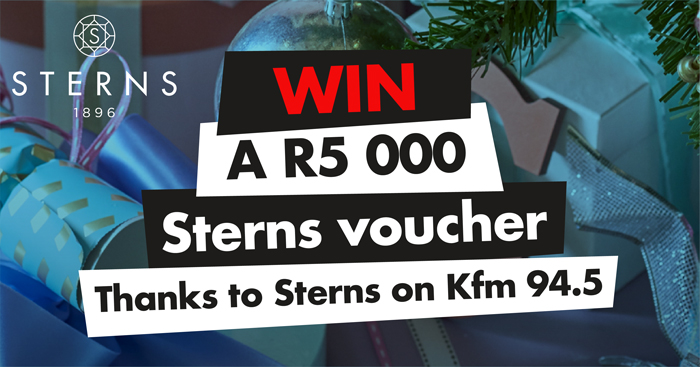 ADD SOME SPARKLE TO YOUR SHINE WITH A R5 000 STERNS VOUCHER ON KFM 94.5