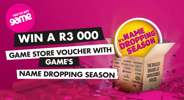 Win a R3000 Game store voucher with Game's Name Dropping Season