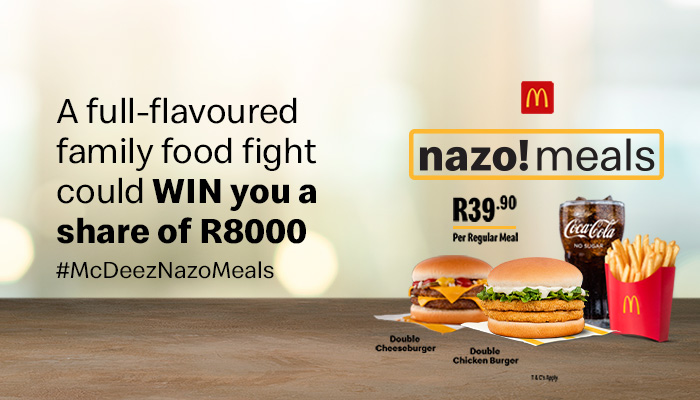 WIN your split of R2000 with a share of R8000 up for grabs with McDonald's