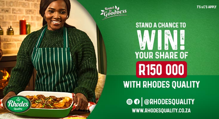 Stand a chance to win a share of prizes worth R150K with Rhodes Quality