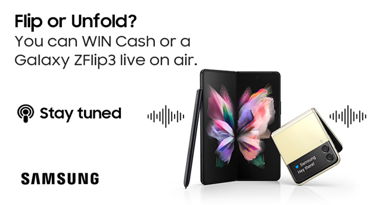 Win a Samsung Galaxy Z Series or a share of R80 000 with Kfm 94.5 & Samsung