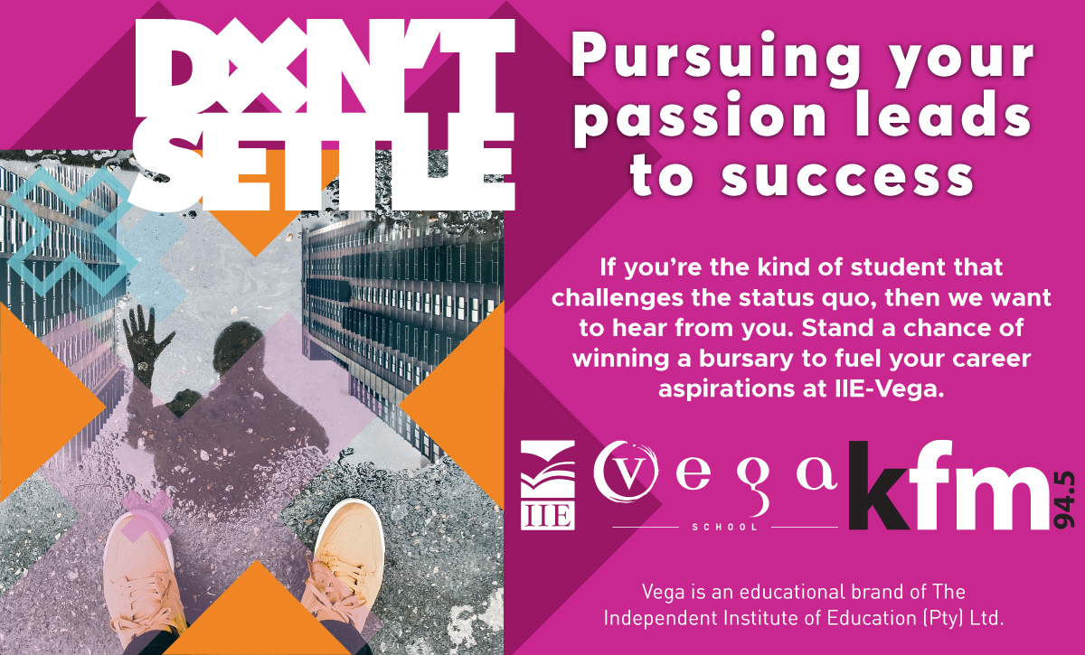 Stand a chance to win a bursary to pursue your Passion with IIE-Vega School