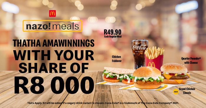 Your Nazo Meal. Your Scratch. Your Share of R8000 on Kfm 94.5