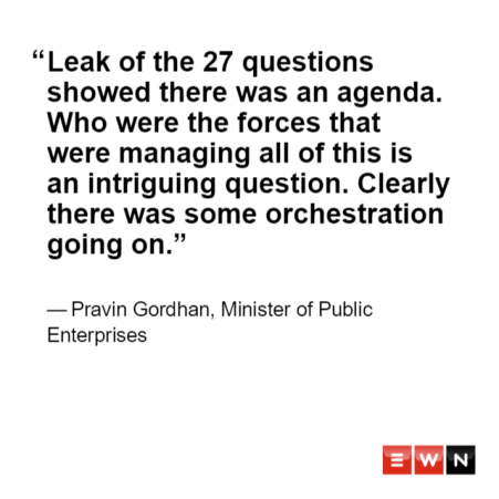 LIVE BLOG] Zondo Inquiry: Gordhan says his daughter has no business