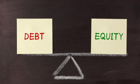 debt equity funding 123rf