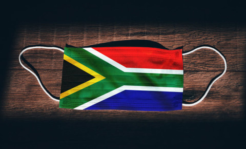 Mask South African flag coronavirus Covid-19 lockdown 123rf
