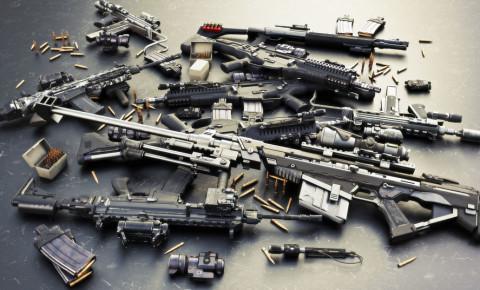 Weapons guns rifles automatic assault sniper bullets 123rf
