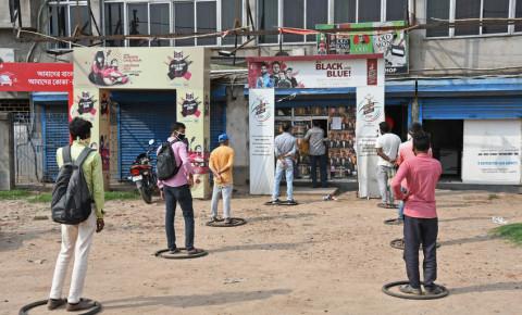 Burdwan Town, West Bengal, India Covid-19 social distancing 123rf