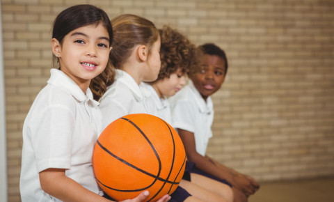 School pupils playing sport school sports 123rf