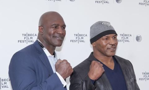 Mike Tyson Evander Holyfield sport boxing 123rf