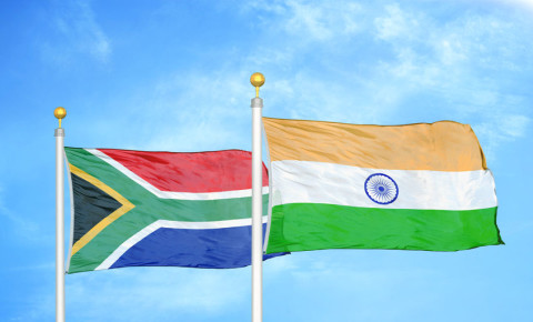 India South Africa Indian South African flag flags 123rf