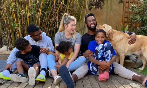 Siya Kolisi and his family