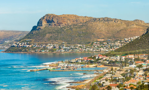 Kalk Bay harbour and mountain 123rf