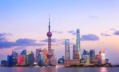 Shanghai skyline unsplash