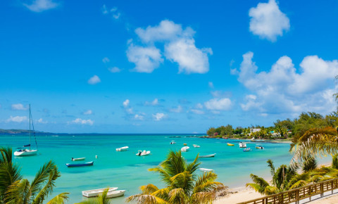 Ceaches of Mauritius island. Tropical vacation 123rf