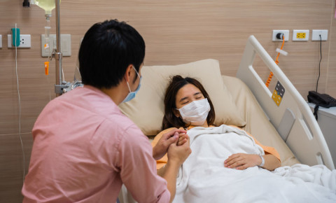 Hospital visits during Covid-19 family 123rf