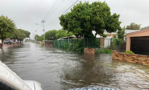 Otter road flooded