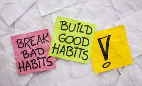 break bad habits build good 123rf
