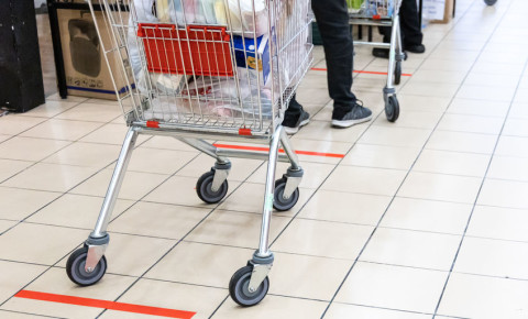 Social-distancing-supermarket-grocery-shopping-Covid-19-essentials-retail-123rf