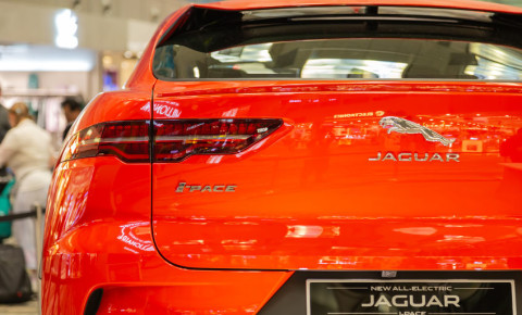 Jaguar Land Rover I-PACE electric car vehicle EV 123rf