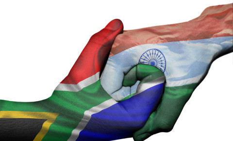 India South Africa Indian South African flag flags hands 123rf