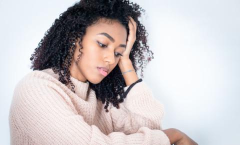 Depressed sad teenage girl 123rf