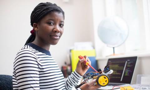 robotics teen teenager pupil classroom robot car science lesson education 123rf