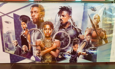 Black Panther movie poster 123rf