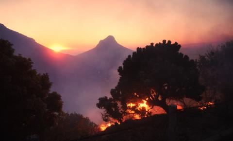 Cape Town fire April 2021