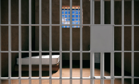 Prison cell jail 123rf