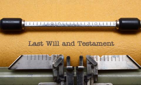 Last Will and Testament 123rf