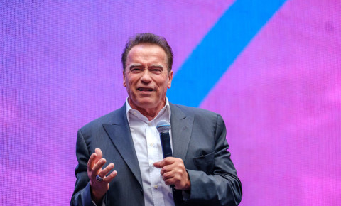 Arnold Schwarzenegger, famous actor, politician and businessman