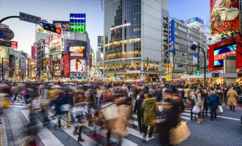 TOKYO, JAPAN Pedestrians walk at Shibuya Crossing 123rflifestyle 123rf