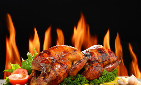 Roasted flame-grilled flame grilled chicken nando's nandos 123rf 123rfbusiness