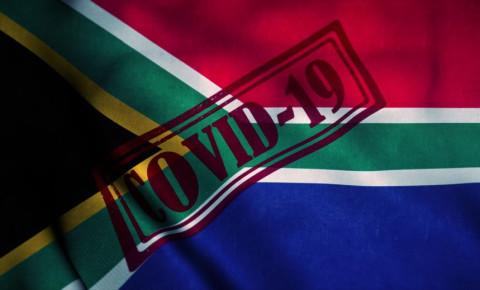 Covid-19 South Africa coronavirus stamp flag 123rf