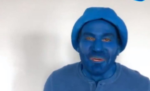 Clover blue man