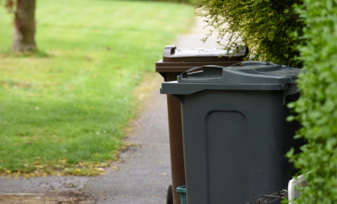 refuse bin wheelie bin yard garden property recycling waste collection 123rf