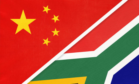 People's Republic of China or PRC and South Africa or RSA 123rf
