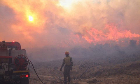 NCC firefighters fight Table Mountain fires April 2021