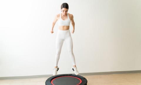 rebounding mini trampoline rebound fitness aerobic exercise fitness health 123rf