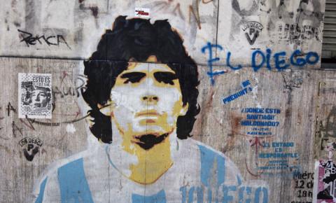 Diego Maradona (Caminito street in La Boca, Buenos Aires, Argentina)