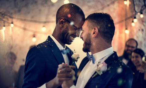 Gay couple same-sex marriage 123rf