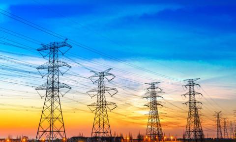 High voltage pylons 123rf